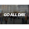 "GO ALL DAY® Statement Stickers / Decals (7""x1"")"