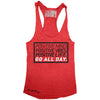 "GO ALL DAY ""POSITIVE LIFE"" TriBlend Racerback Tank (Red)"