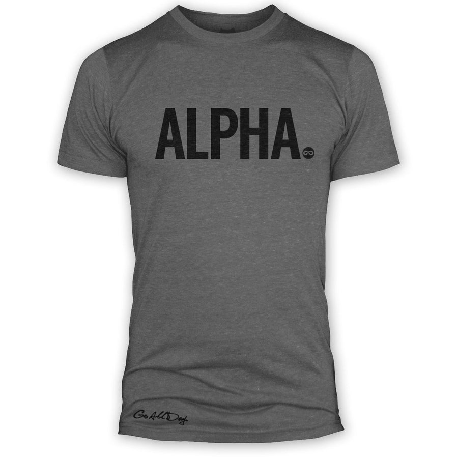 "GO ALL DAY ""ALPHA"" TriBlend Tee (Grey)"