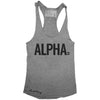 "GO ALL DAY ""ALPHA"" TriBlend Racerback Tank (Grey)"