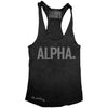 "GO ALL DAY ""ALPHA"" TriBlend Racerback Tank (Black)"