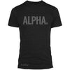 "GO ALL DAY ""ALPHA"" TriBlend Tee (Black)"
