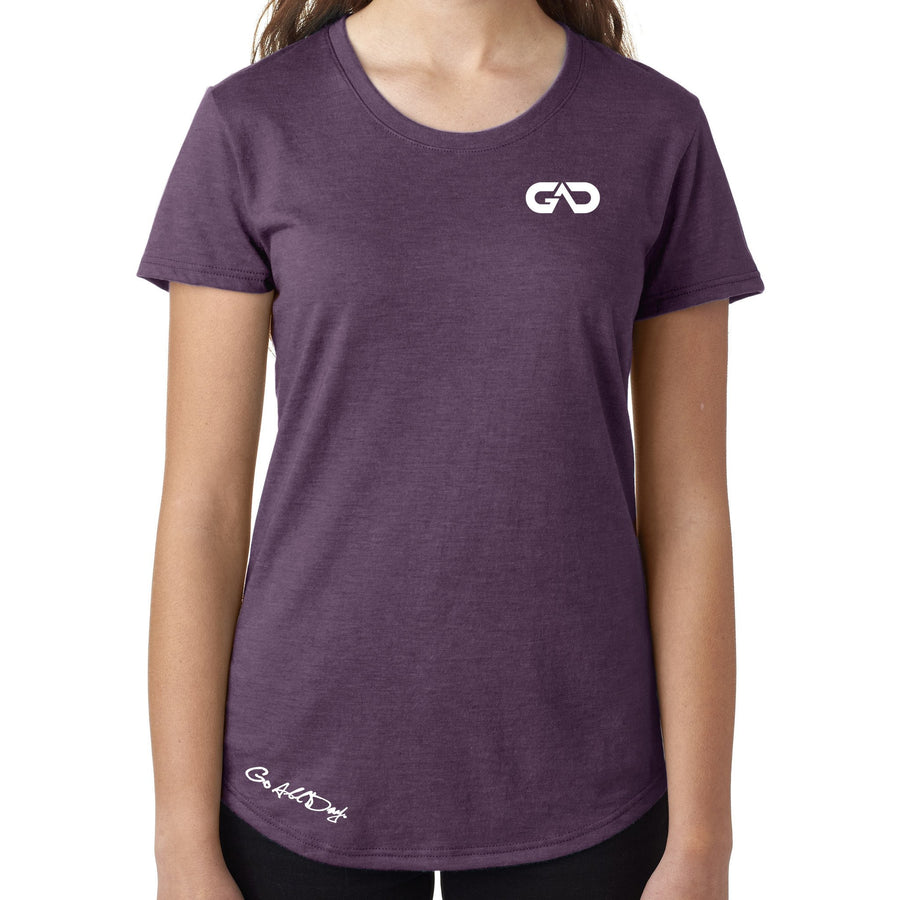 Women's GO ALL DAY Infinity Logo TriBlend Tee (Plum)