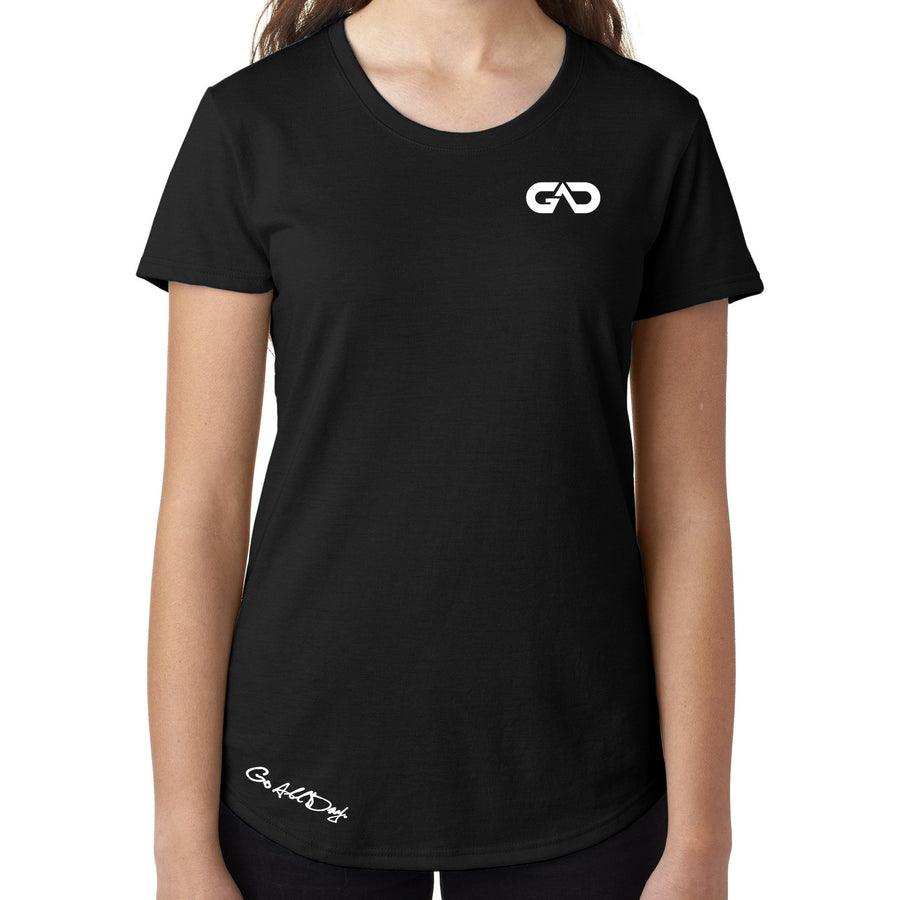 Women's GO ALL DAY Infinity Logo TriBlend Tee (Black)
