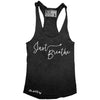 "GO ALL DAY ""JUST BREATHE"" TriBlend Racerback Tank (Black)"