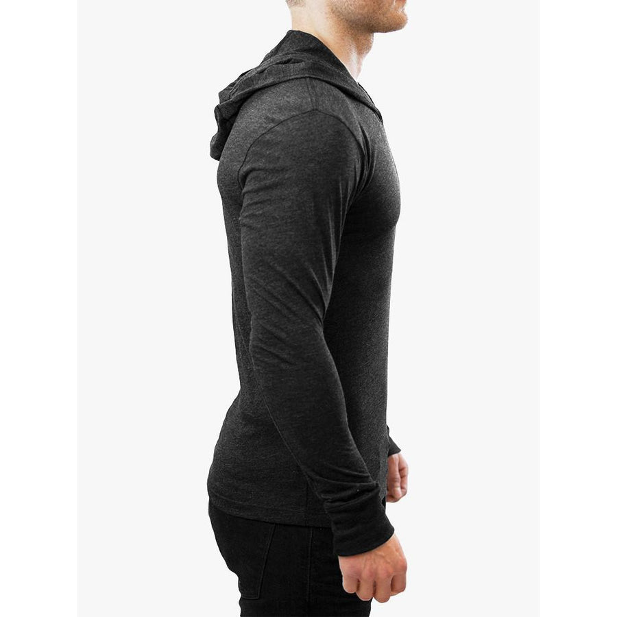 GO ALL DAY Lightweight TriBlend Hoodie (Black)