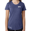 Women's GO ALL DAY Infinity Logo TriBlend Tee (Blue)