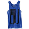 """USA FLAG"" Unisex Tank (Heather Blue)"
