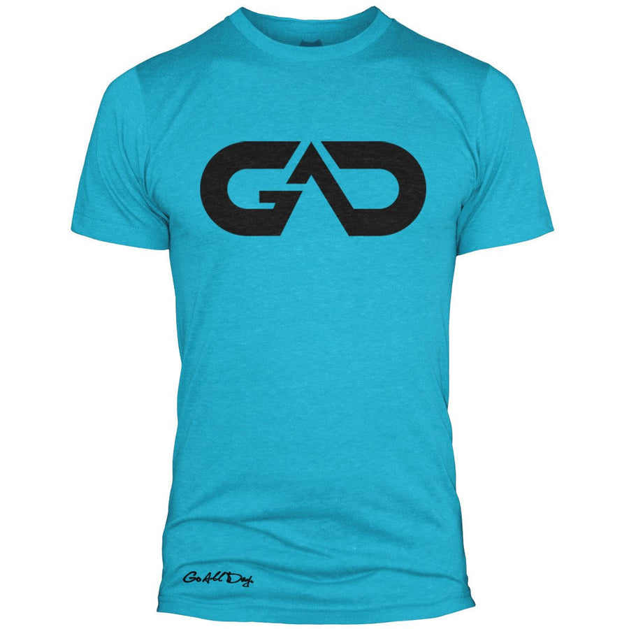 GO ALL DAY Infinity Logo Poly/Cotton Tee (Teal)