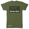 "GO ALL DAY ""POSITIVE LIFE"" Poly/Cotton Tee (Camo Green)"
