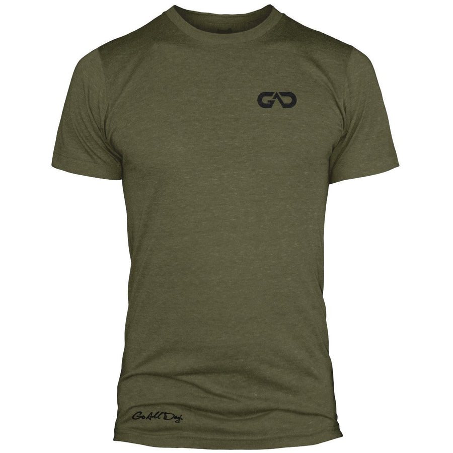 GO ALL DAY Infinity Logo Poly/Cotton Tee (Camo Green)