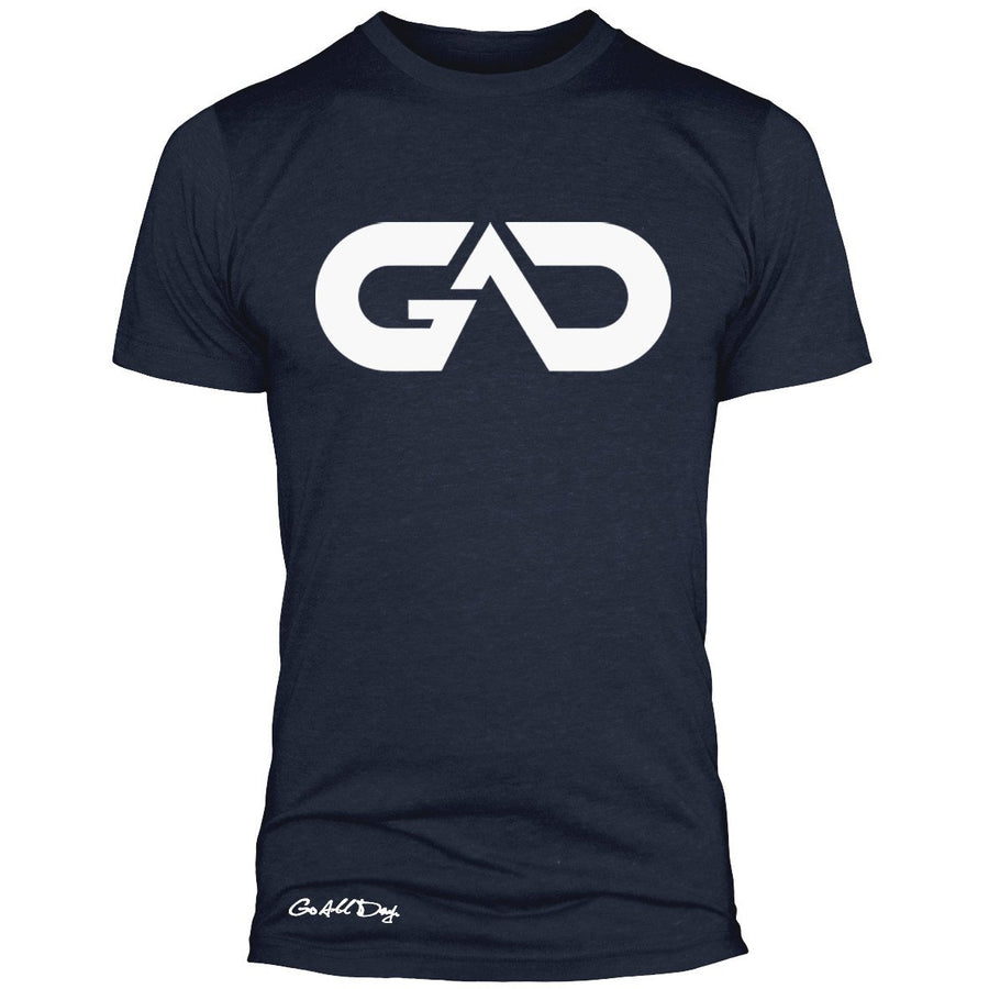GO ALL DAY Infinity Logo Poly/Cotton Tee (Dark Navy)