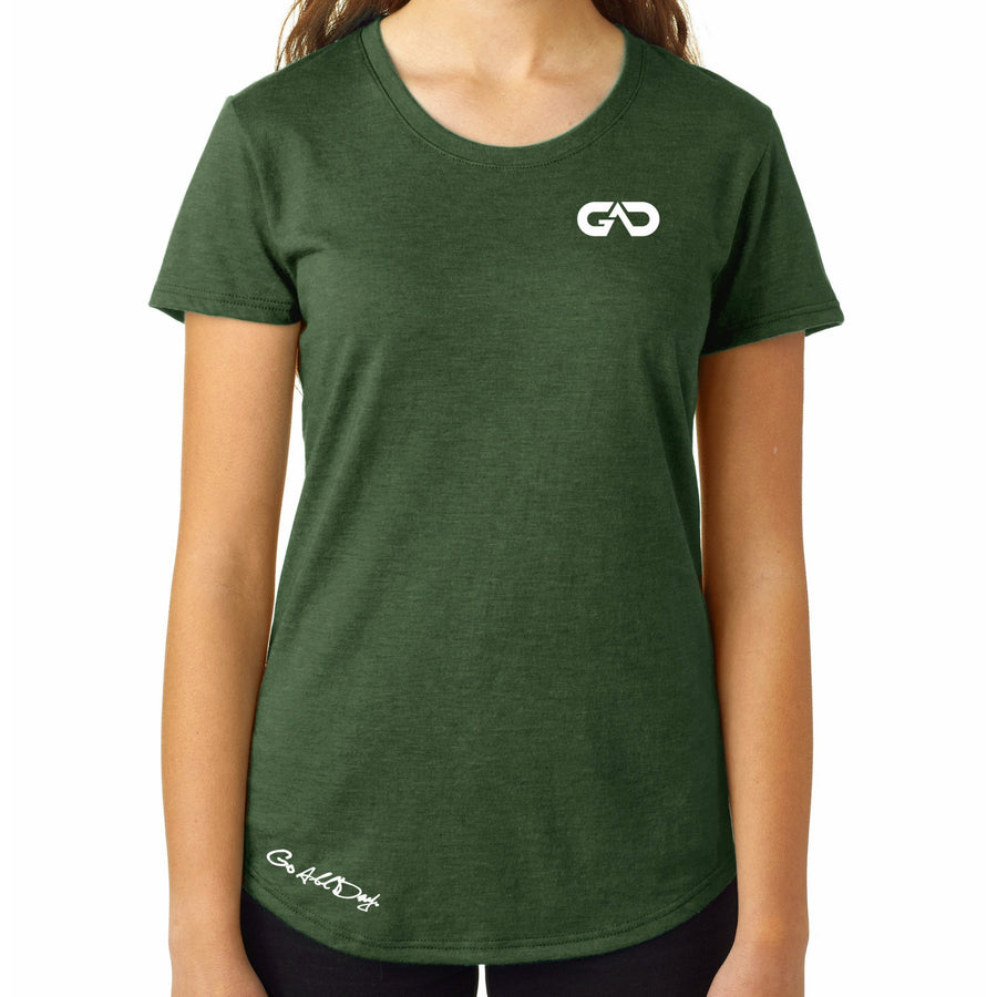 Women's GO ALL DAY Infinity Logo TriBlend Tee (Forest Green)