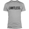 """LIMITLESS"" Signature Series Tee Poly/Cotton (Grey)"