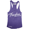 """FEAR LESS"" Signature Series Racerback Tank (Purple)"