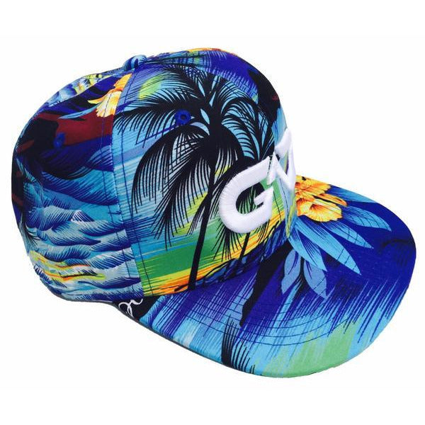 GO ALL DAY® Floral Snapback Hat (Blue)