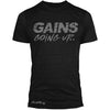 """GAINS GOING UP"" Signature Series TriBlend Tee (Black)"