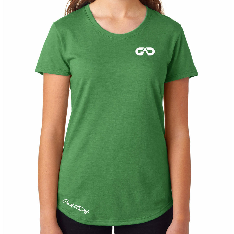 Women's GO ALL DAY Infinity Logo TriBlend Tee (Green)