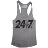 """24/7"" Signature Series Racerback Tank (Grey)"