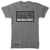 "GO ALL DAY ""POSITIVE LIFE"" TriBlend Tee (Grey)"