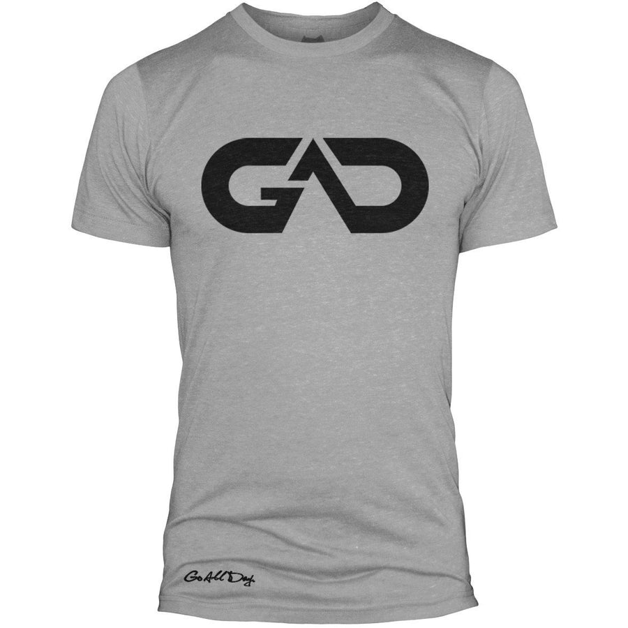 GO ALL DAY Infinity Logo Poly/Cotton Tee (Grey)