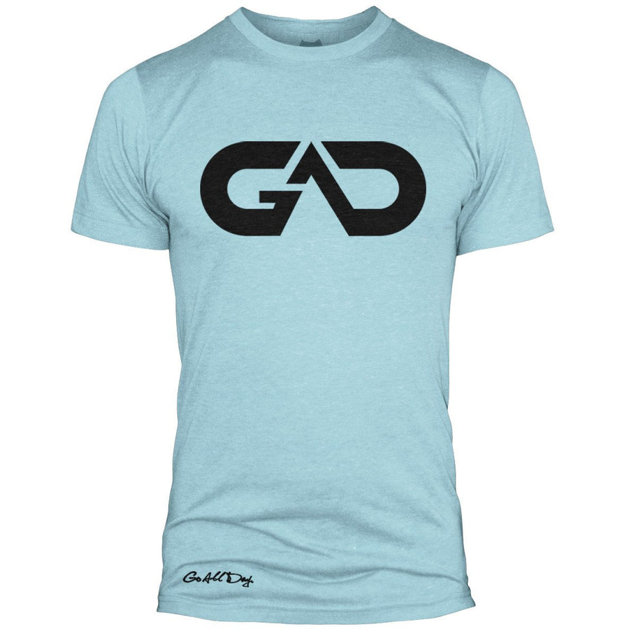 GO ALL DAY Infinity Logo Poly/Cotton Tee (Ice Blue)