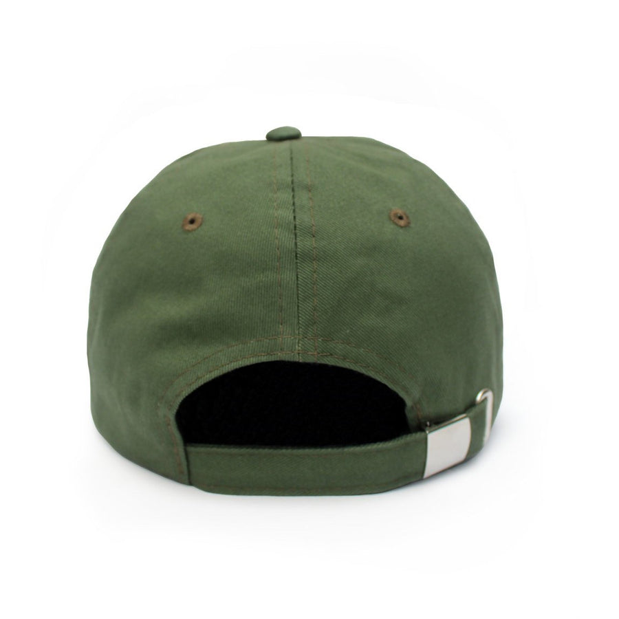 'NO SWEAT' Dad Hat (Green Olive)
