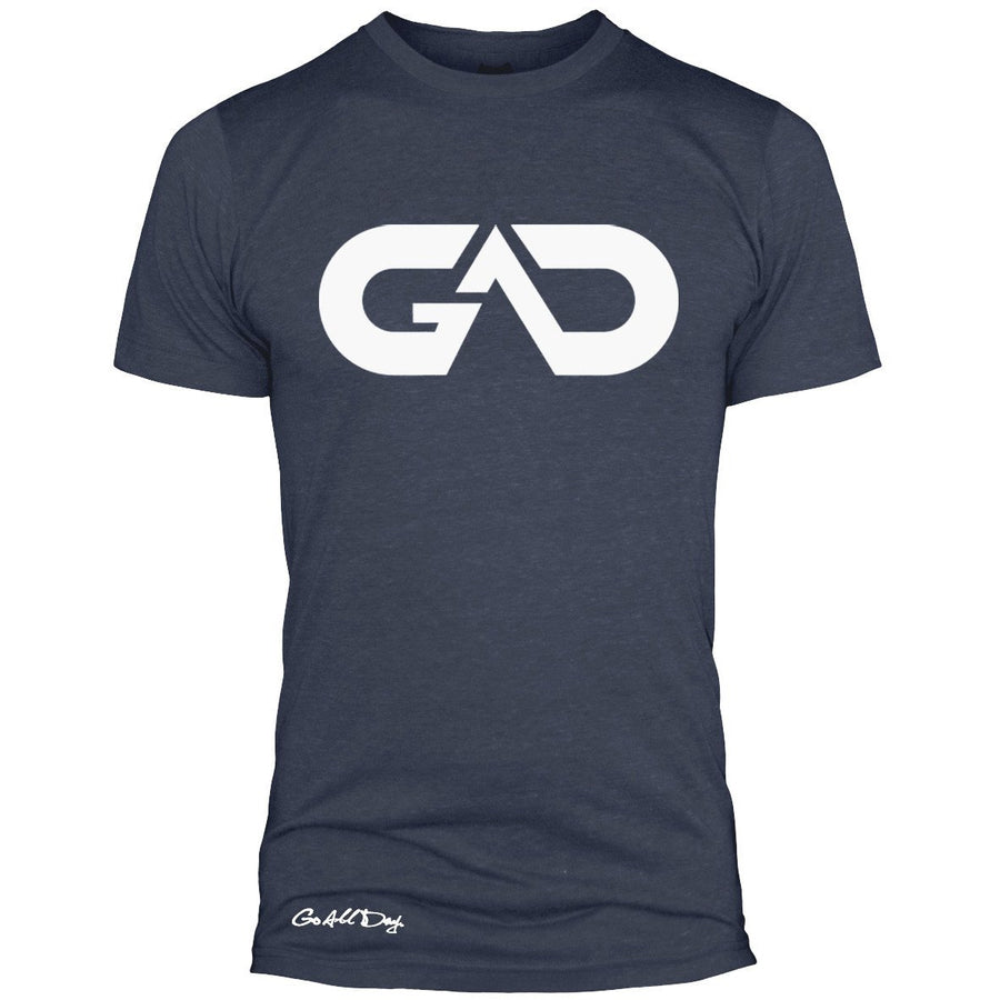 GO ALL DAY Infinity Logo Poly/Cotton Tee (Indigo)