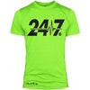 """24/7"" Signature Series Poly/Cotton Tee (Neon Green)"