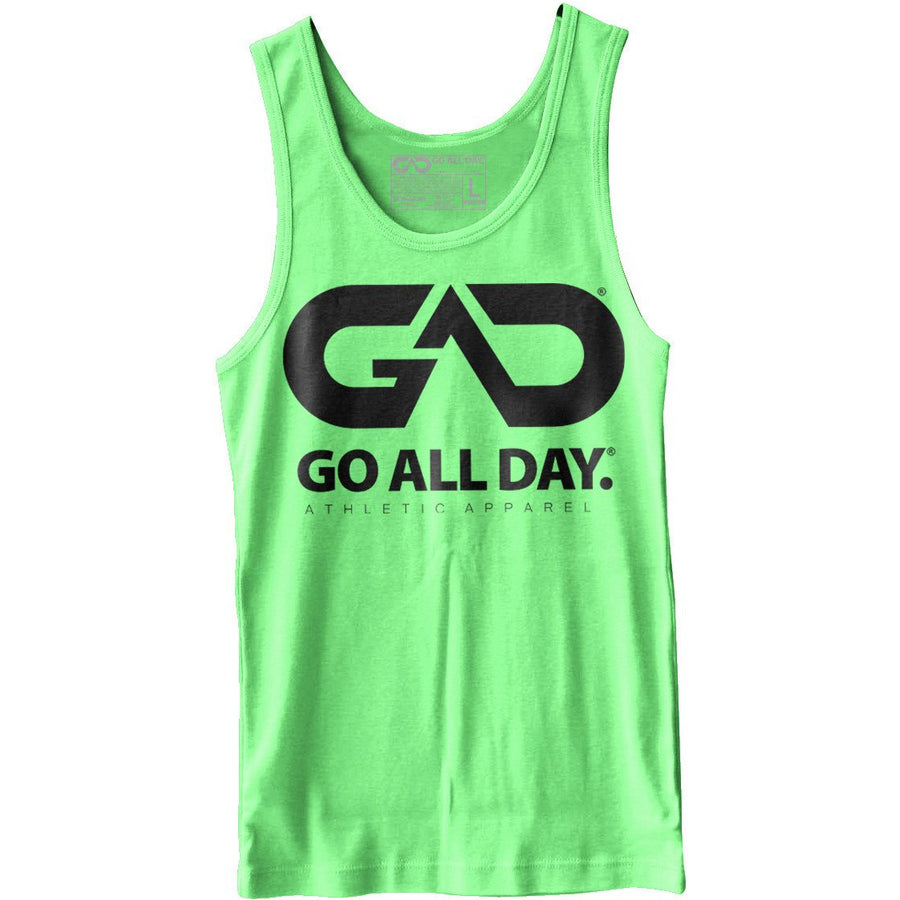 GO ALL DAY® Unisex Tank (Neon Heather Green)