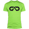 GO ALL DAY Infinity Logo Poly/Cotton Tee (Neon Green)