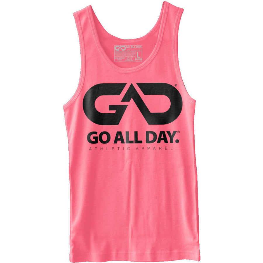 GO ALL DAY® Unisex Tank (Neon Heather Pink)