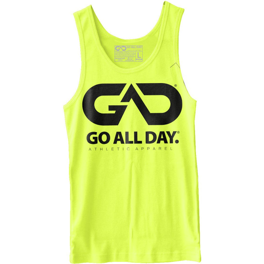 GO ALL DAY® Unisex Tank (Neon Yellow)