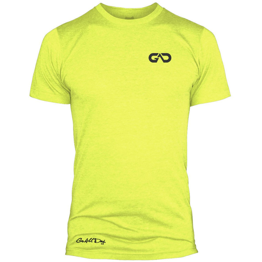 GO ALL DAY Infinity Logo Poly/Cotton Tee (Neon Yellow)