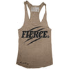 """FIERCE"" Signature Series Racerback Tank (Olive)"