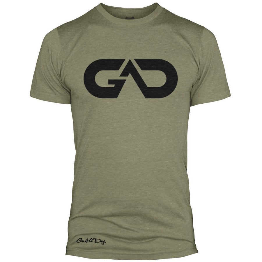 GO ALL DAY Infinity Logo Poly/Cotton Tee (Olive)