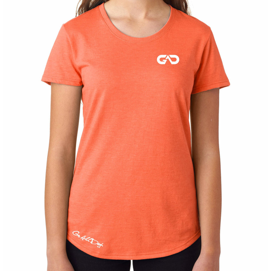 Women's GO ALL DAY Infinity Logo TriBlend Tee (Orange)
