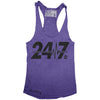 """24/7"" Signature Series Racerback Tank (Purple)"