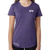 Women's GO ALL DAY Infinity Logo TriBlend Tee (Purple)