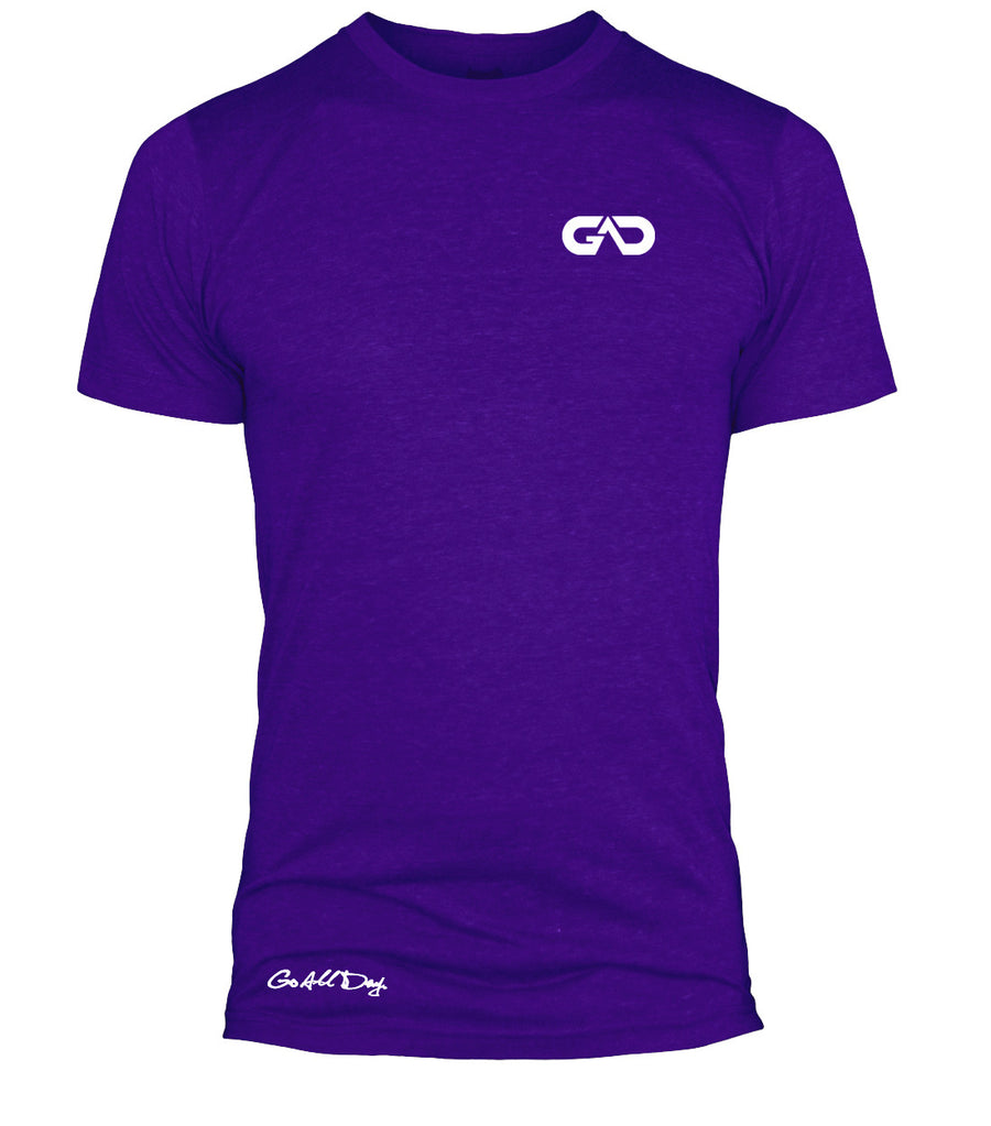 GO ALL DAY Infinity Logo Poly/Cotton Tee (Purple)