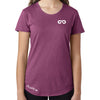 Women's GO ALL DAY Infinity Logo TriBlend Tee (Rasberry)