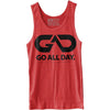 GO ALL DAY® Unisex Tank (Heather Red)