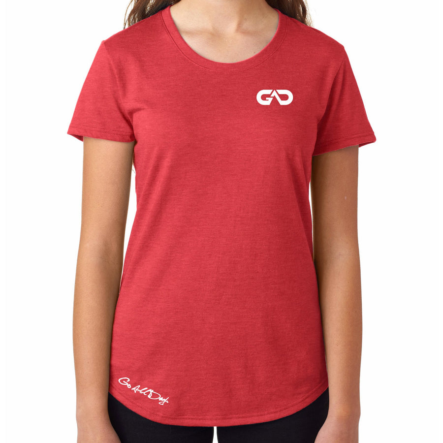 Women's GO ALL DAY Infinity Logo TriBlend Tee (Red)
