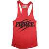 """FIERCE"" Signature Series Racerback Tank (Red)"
