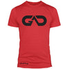 GO ALL DAY Infinity Logo Poly/Cotton Tee (Red)