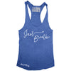 "GO ALL DAY ""JUST BREATHE"" TriBlend Racerback Tank (Blue)"