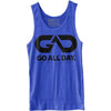 GO ALL DAY® Unisex Tank (Heather Royal Blue)