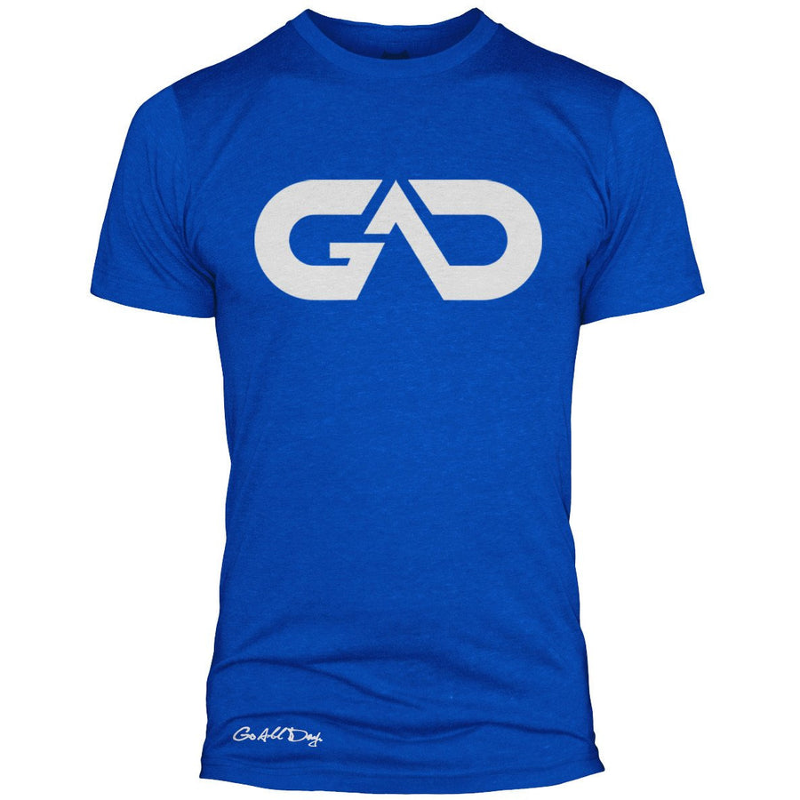 GO ALL DAY Infinity Logo Poly/Cotton Tee (Blue)