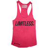 "GO ALL DAY ""LIMITLESS"" TriBlend Racerback Tank (Shocking Pink)"