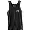 GO ALL DAY® Unisex Tank (Charcoal Black) Small Logo
